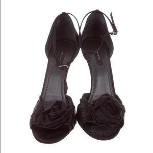 Marc Jacobs Black Satin Shoes